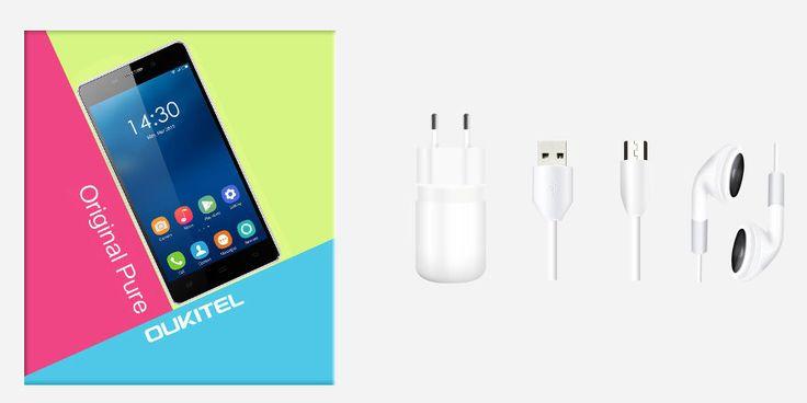 OUKITEL Original Pure 5-inch Android 5.0 MTK6582 Quad-core Smartphone