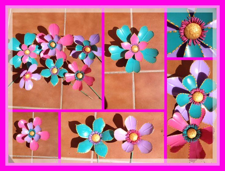 Flores con botellas de plastico o pet para decoracion de - Decoracion de botellas ...
