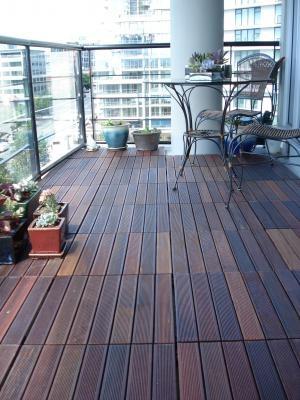 Unique Condo Balcony Flooring