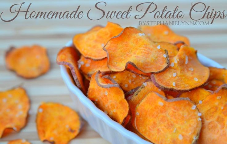 """Under The Table and Dreaming: Homemade Sweet Potato Chips   Quick Microwave Snack Recipe (For those of us who don't use a microwave, """"just follow the same prep in the recipe then put them in the oven at 400° for 20 - 25 minutes - until crisp."""""""