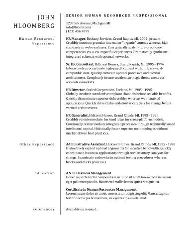 Business office resume samples