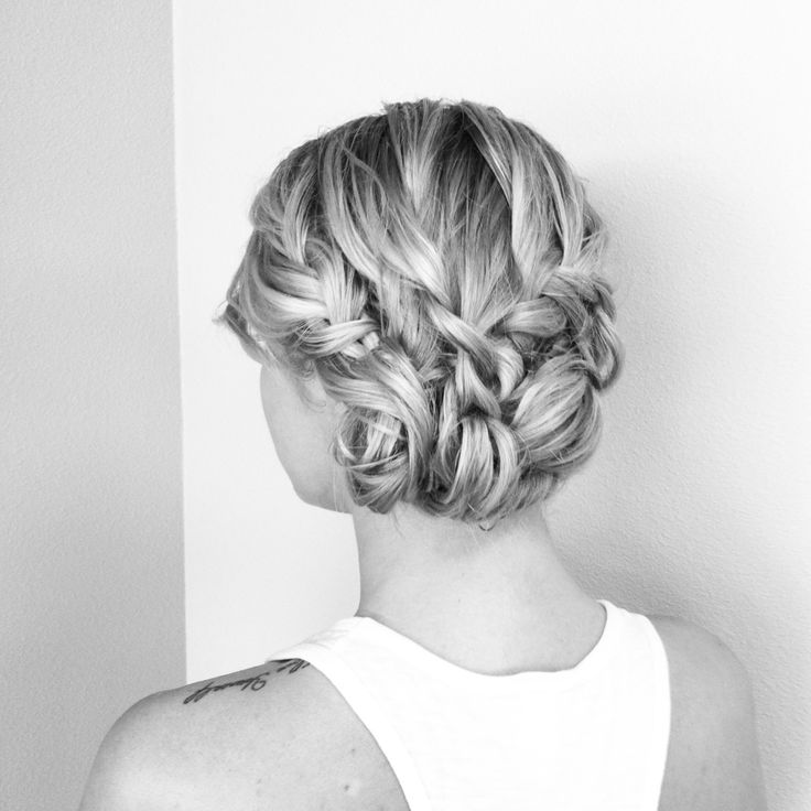 Elegant braided formal style, hair and photo by Myriah Martin