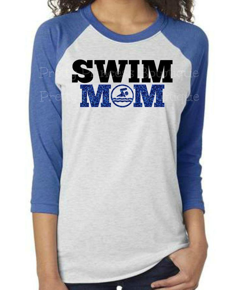 Swim Mom Shirt, swim mom bling, swim team shirt, swim mom, swim team, swimming shirt, swimming shirts, swim meet shirt,bling swim mom by PrettyPrincessBowtiq on Etsy
