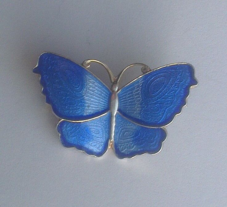 Arne Nordlie Norway Sterling Silver and Enamel Butterfly Brooch