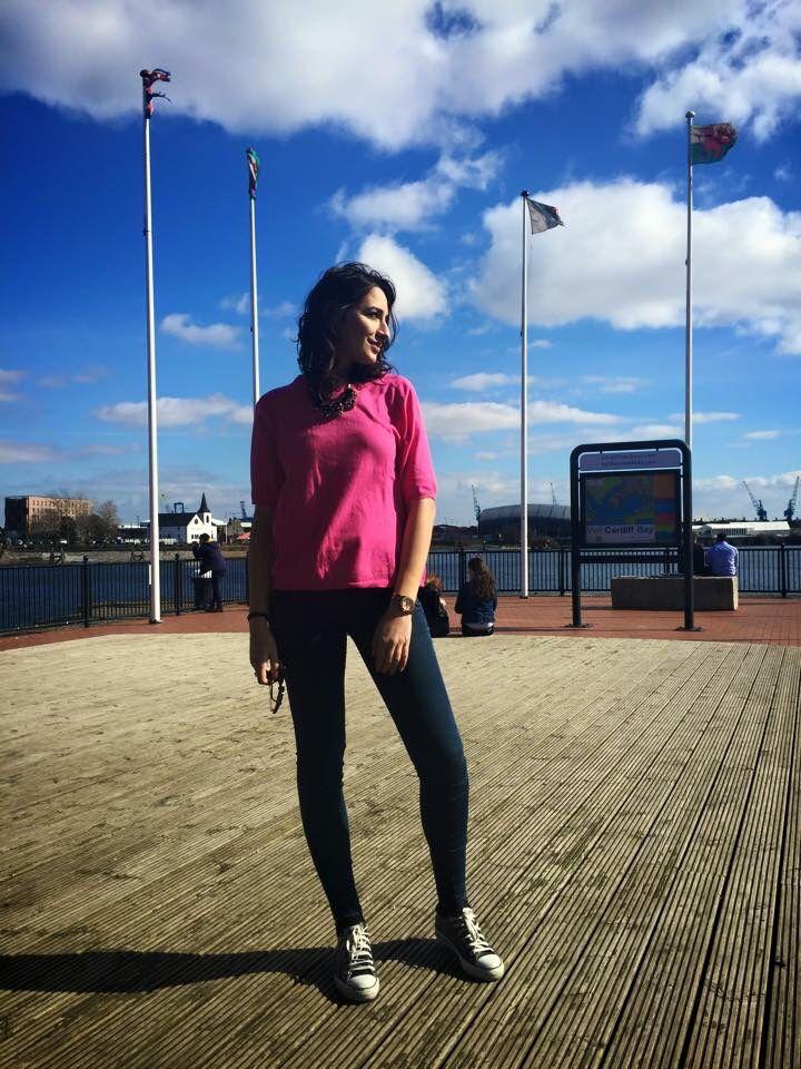 #Happy #days in #Cardiff ! #pink #life  #streestyle #fashionblogger #thegoaldiggers