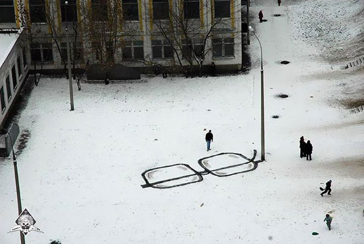 Street art from Russia. Great sense of humour.