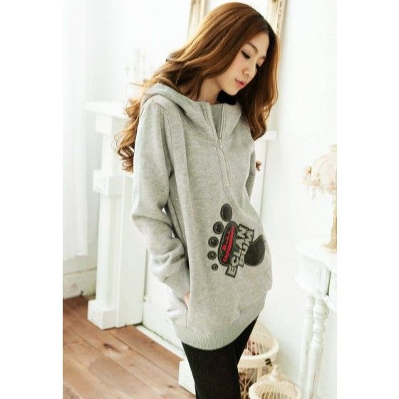 New Casual Women Thick Hoodies Long Sleeve Cartoon Sweatshirt Pullover