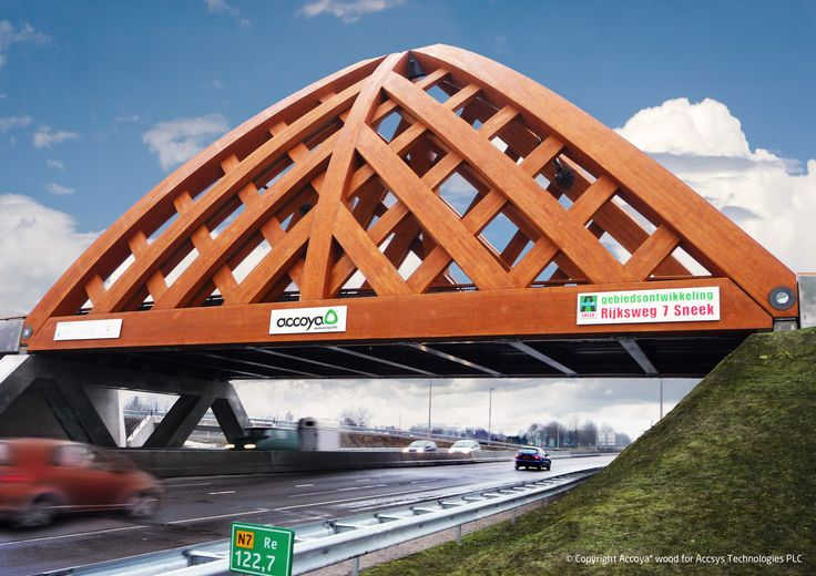 Accoya® - modified Radiata Pine used for a beautiful bridge. Copyright: Accsys Technologies.