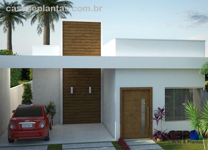 Projeto do casa com telhado escondido projetos - Ideas casas pequenas ...