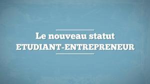 Statut d'étudiant-entrepreneur