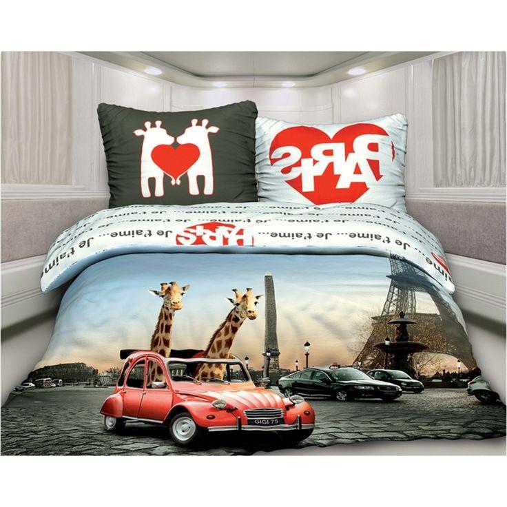 Комплект постельного белья «Любовь в Париже» 2-спальный (наволочки 70х70 см)