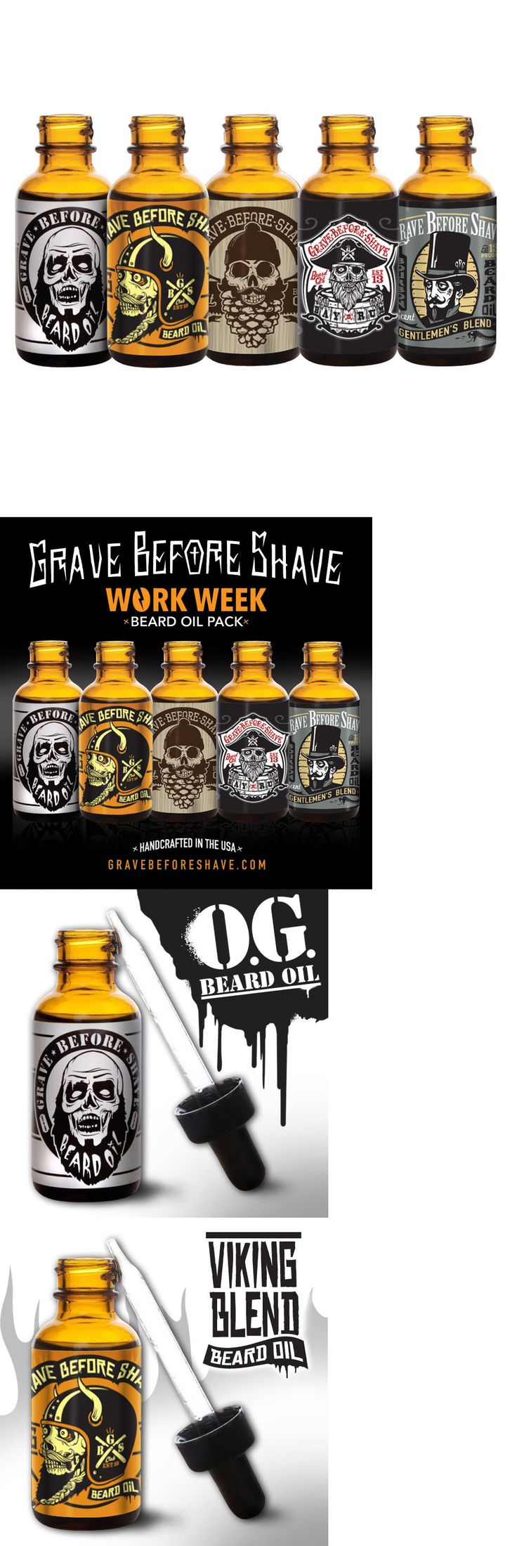 Treatments Oils and Protectors: Grave Before Shave Beard Oil Work Week Pack -> BUY IT NOW ONLY: $54.99 on eBay!