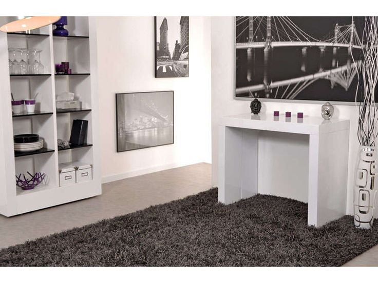 1000 ideas about console extensible blanc laqu on - Table console extensible noir ...