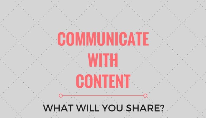Communicate with content - What will your business share with its customers? Social Media tips for your business from Sparkle Communications.