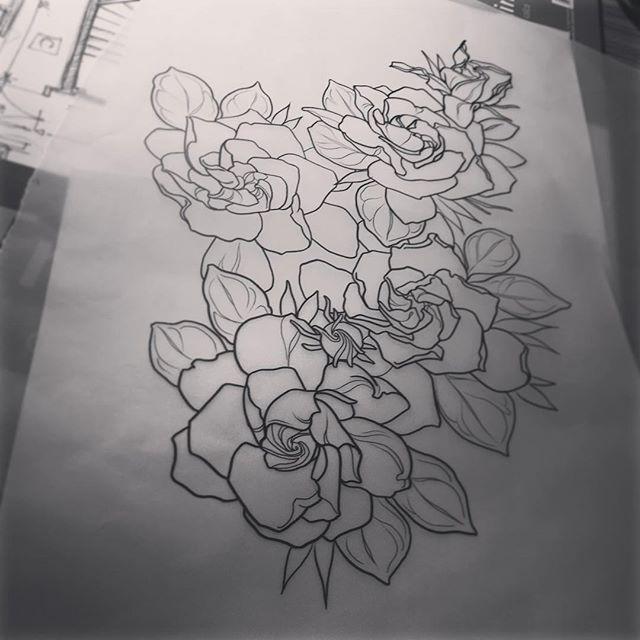 Gardenia flower tattoo