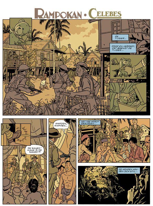 Page from graphic Novel Rampokan/Celebes from Peter van Dongen