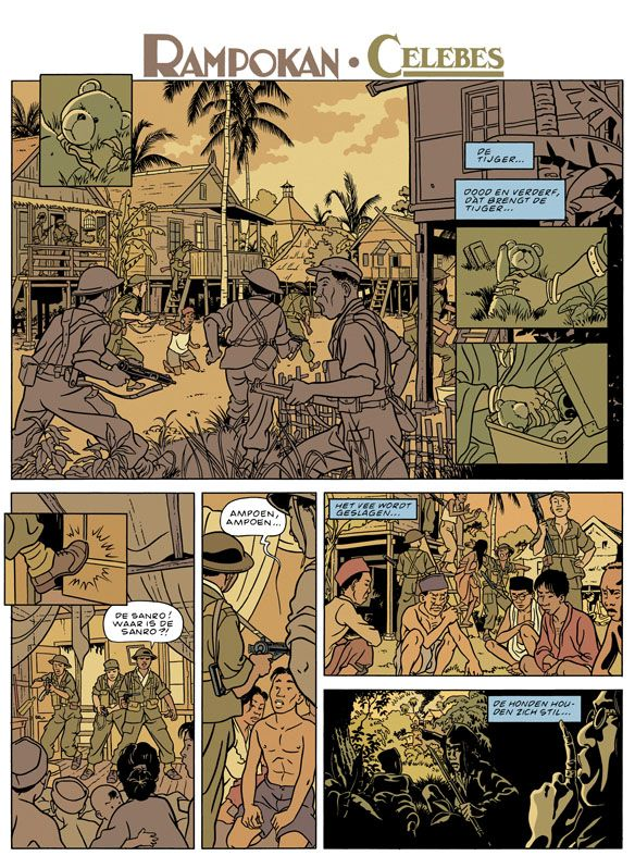 Page from graphic Novel Rampokan/Celebes from Peter van Dongen