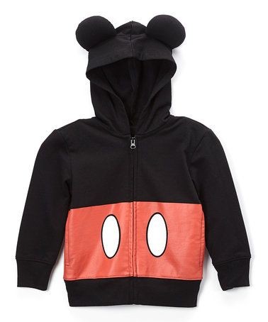 Love this Mickey Mouse Black & Red Zip-Up Hoodie - Toddler on #zulily! #zulilyfinds