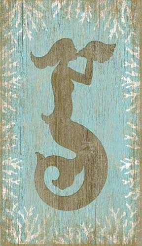 Vintage Wood Mermaid Sign: Beach Decor, Coastal Home Decor, Nautical Decor, Tropical Island Decor & Beach Cottage Furnishings
