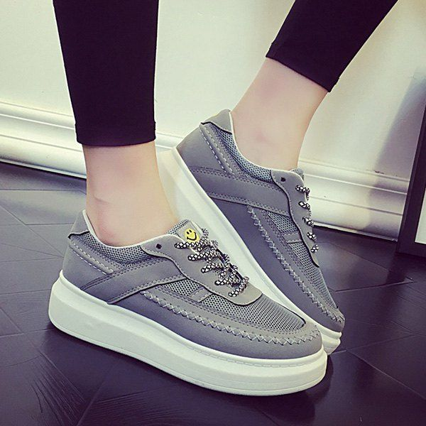Trendy Breathable and Stitching Design Women's Athletic Shoes #women, #men, #hats, #watches, #belts