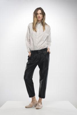 Black shiny pants   Adelina Ivan Studio