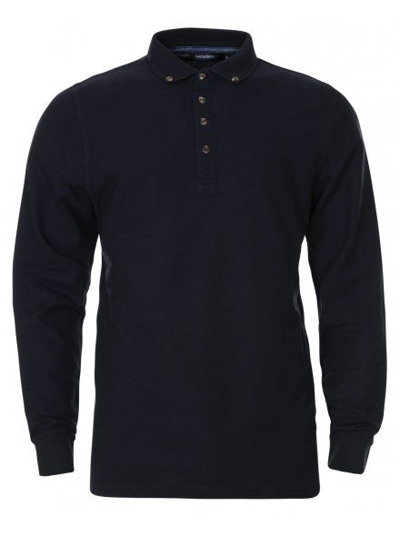 Dark Navy Long Sleeve Polo Shirt