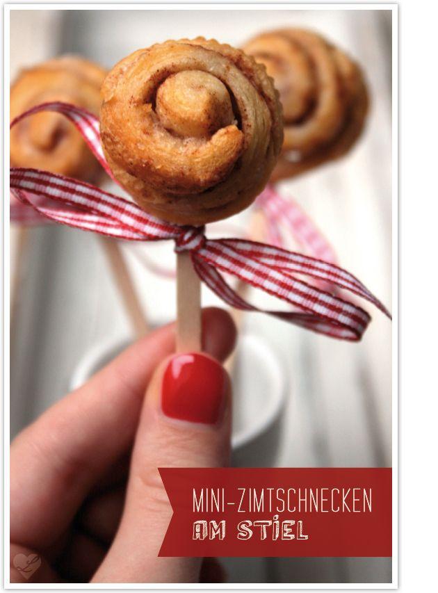 Mini Zimtschnecken am Stiel