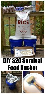 Super Cheap DIY Survival Food Bucket  Homesteading  - The Homestead Survival .Com