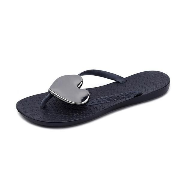 Cute Flip Flop Summer Fashion Ladie Platform Slipper Soft Bottom Non-slip Beach Flip Flops