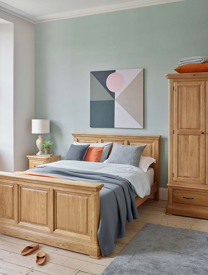 Styling Your Bedroom How To Decorate With Blue Oak Bedroom Furniture Oak Furniture Land Furniture