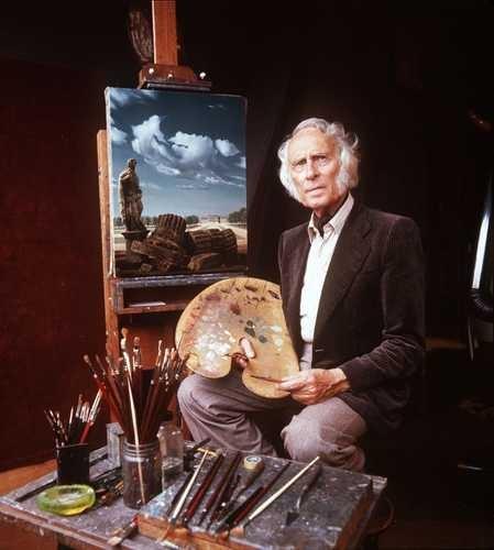 Carel Willink in his studio at the Ruysdaelkade in Amsterdam.