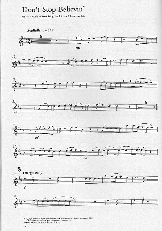 Sheet music for Don't stop believing