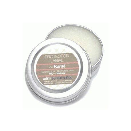 Protector Labial de Karité Ecológico. Para labios secos y agrietados, protección e hidratación. Aporta gran suavidad. Libre de parabenos y derivados del petróleo.