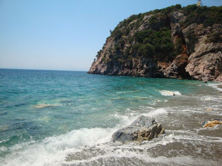 Wild and beautiful Velanio beach (Βελανιό). The other part of it belongs to nudists ;)
