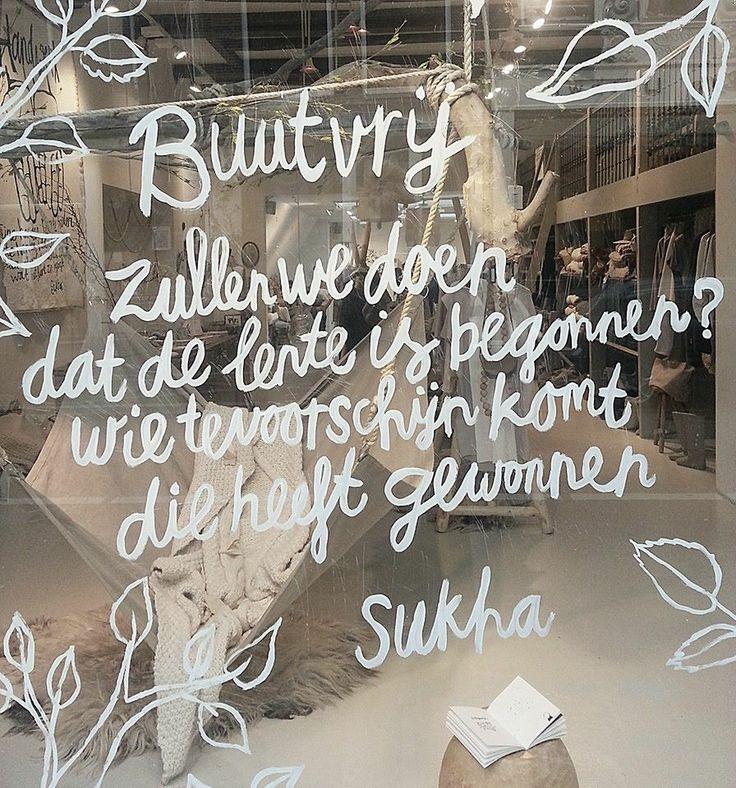 etalage Sukha Amsterdam februari 2014