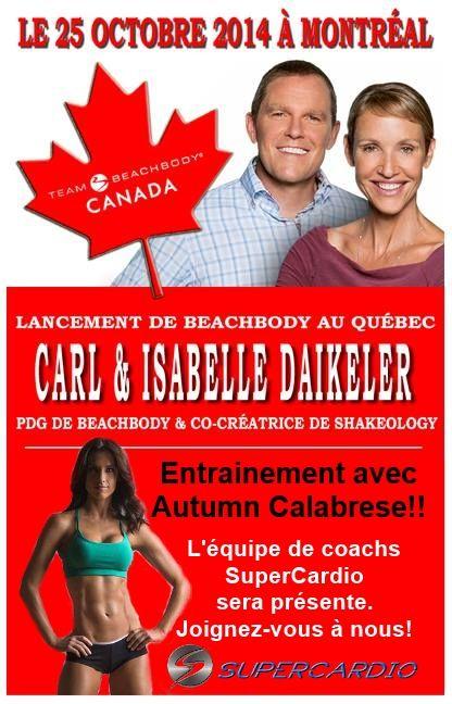 Le lancement Beachbody au Québec aura lieu le 25 octobre avec Autumn Calabrese de 21 Day Fix!! Venez faire un workout avec la célèbre entraineure!