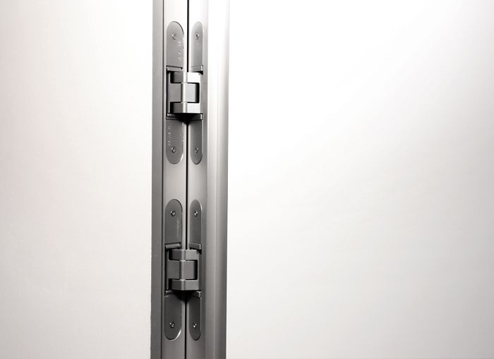 Koschmieder-Bauhaus, raumhohe wandbündige / flächenbündige Zimmertüren mit verdeckt liegenden Tectusbänder