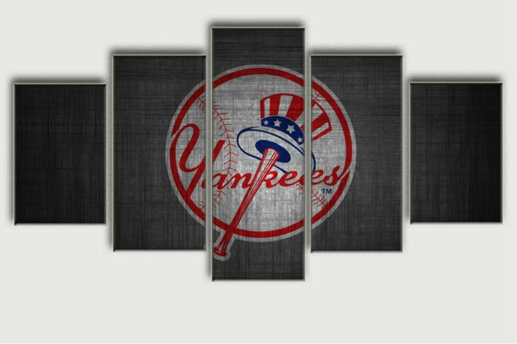 Black Friday Sale Painting - New York Yankees Five Piece Canvas
