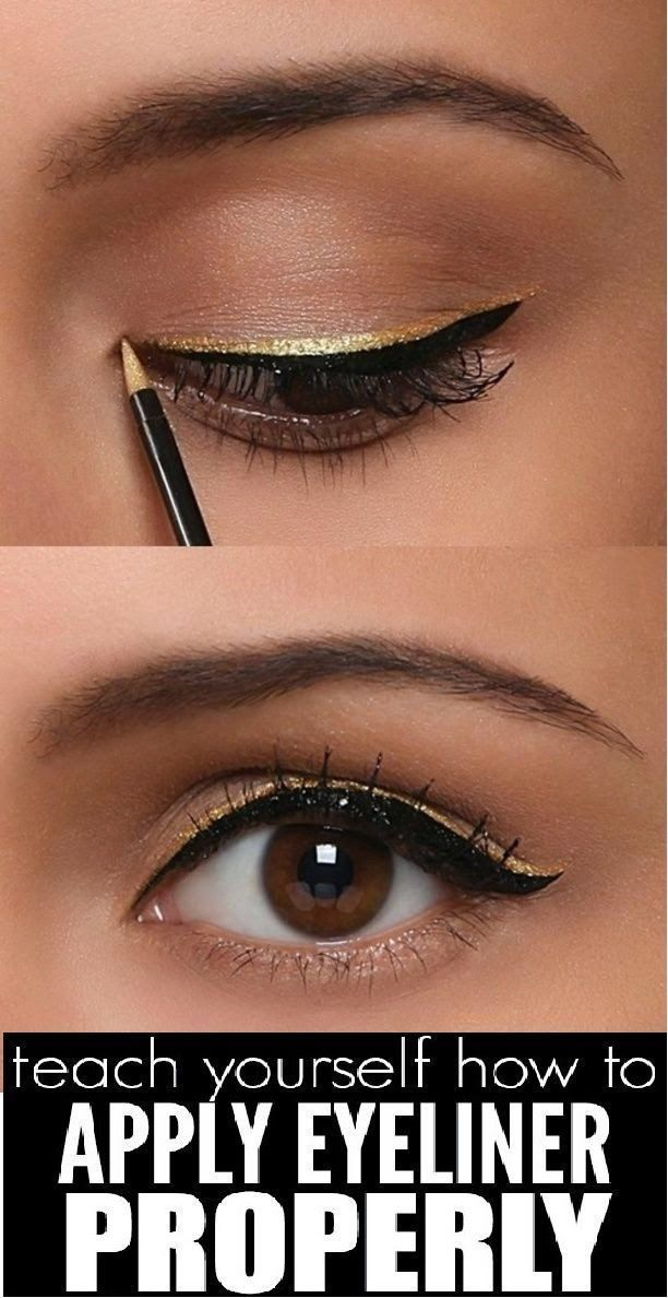 Teach yourself how to apply eyeliner properly