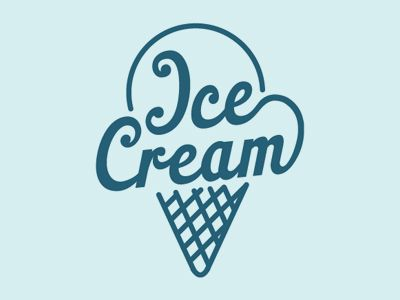Logo Design: Ice Cream                                                                                                                                                     Más