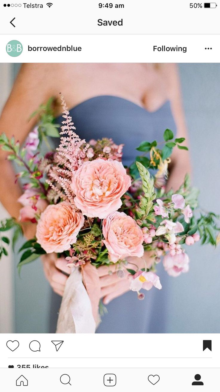 LOVE this bouquet!! I think there are David Austen roses and I imagine some bracken fern from the paddock would work well!