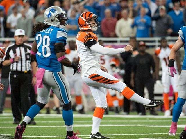 Mike Nugent's 54-yard field goal at gun lifts Bengals over Lions via @USATODAY