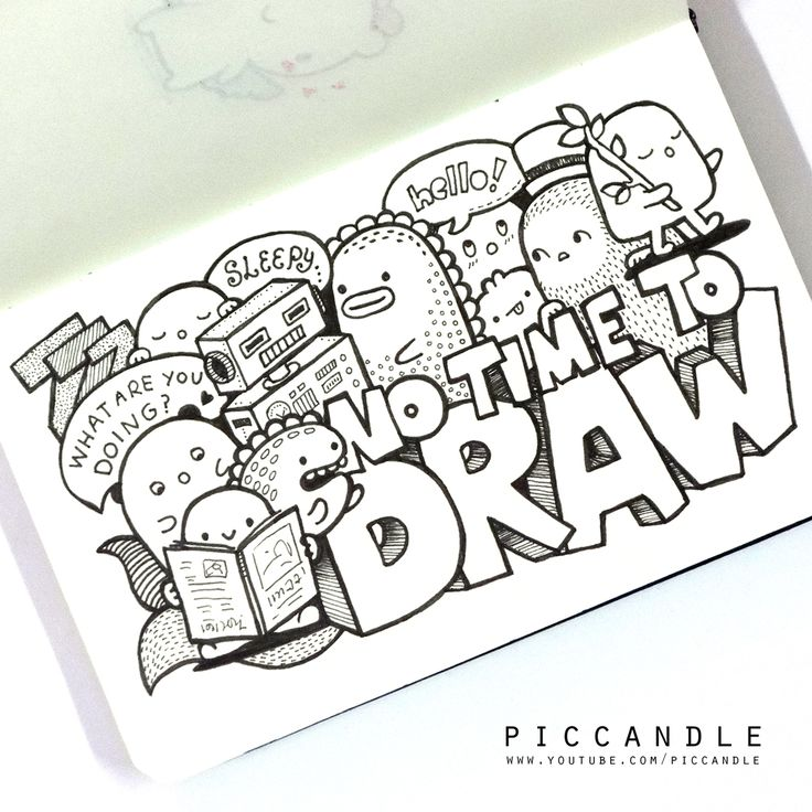 NO TIME TO DRAW  #moleskine #doodle | www.youtube.com/piccandle