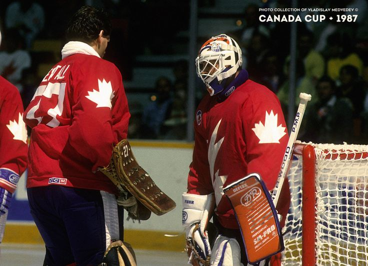 Goalies team Canada #hockey #canada #canadacup1987 #1987 #canadacup #хоккей #вратари #ронхекстолл #грантфюр