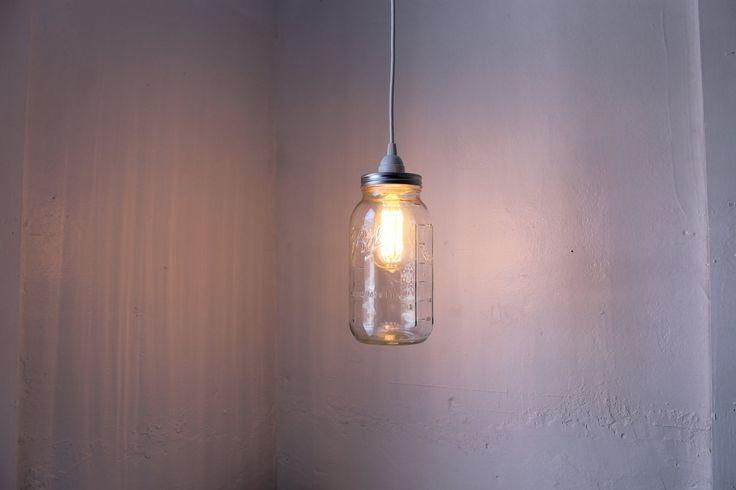 Half+Gallon+Mason+Jar+Light+Ball+Mason+Jar+Pendant+by+BootsNGus,+$36.00