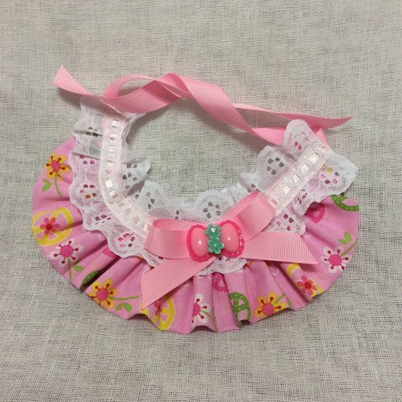 These adorable Ruffle Scarf are the perfect accessories for your fur baby, can be use for wedding, sweet sixteen, picture, or any occasion. Made from fabric and decorated with lace and satin ribbon. This item contains small parts, please do not leave your dog unsupervised went it wear this item.