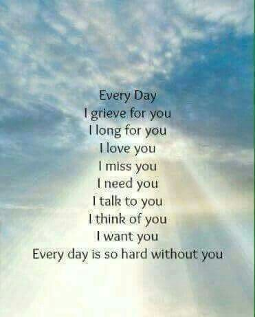 John, I miss you more everyday and my Heart is broken in two, you took the other half when the Angels took you home, But I know with each passing day, your Love is going to get me through this awful time in my life! I will love and miss you daily, Your Loving wife Sharon