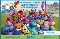 Monster University Birthday Invitations- Monster Inc Birthday Invitations