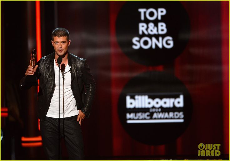 Robin Thicke Thanks Wife Paula Patton at Billboard Music Awards 2014