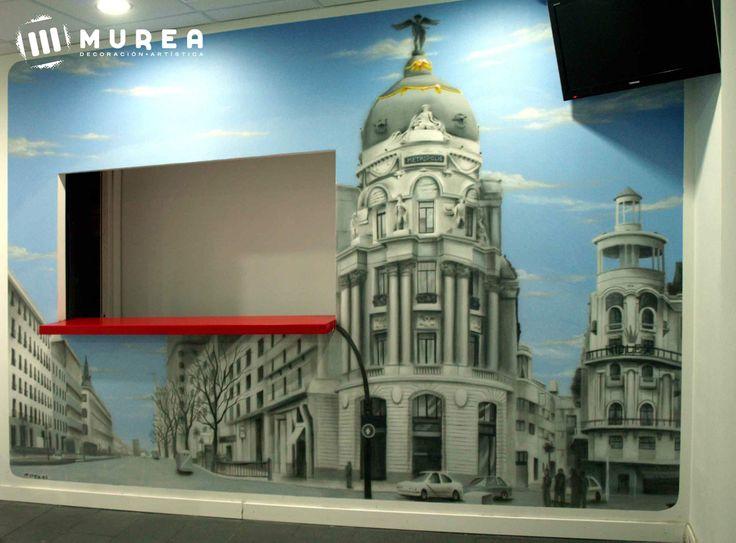 """Mural para bar de copas """"Montys"""" Madrid. Mas trabajos similares en: http://murea.es/decorativos-y-exteriores/"""